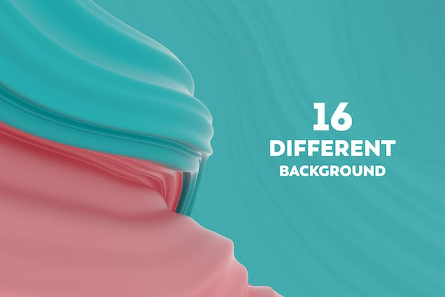 Abstract 3D Wavy Striped Backgrounds - product preview 5