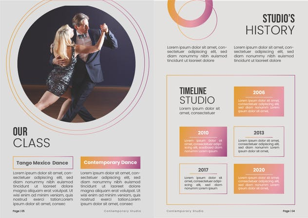 Dance Studio Brochure - product preview 1
