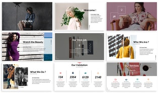 Thumbnail for Figura - Fashion Powerpoint Template