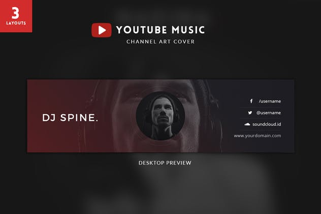 Youtube Music Channel Art - product preview 4