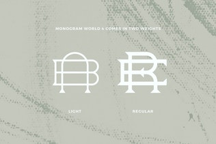 Thumbnail for Monogram World Serif