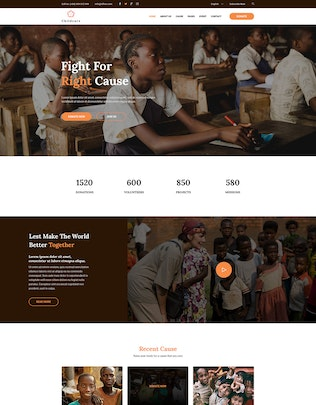 ChildCare | Non-Profit, Charity & Donations PSD