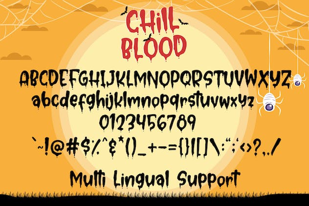 Chill Blood - Bloody Typeface