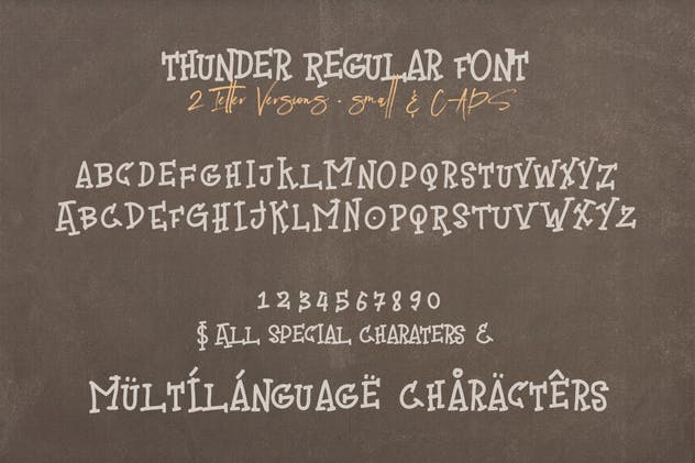 Thunder Handwritten Font - product preview 1