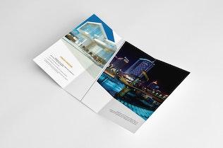 Thumbnail for Minimal Universal Trifold Brochure