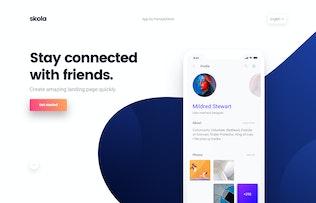 Thumbnail for Skola - Mobile App Landing Page Template