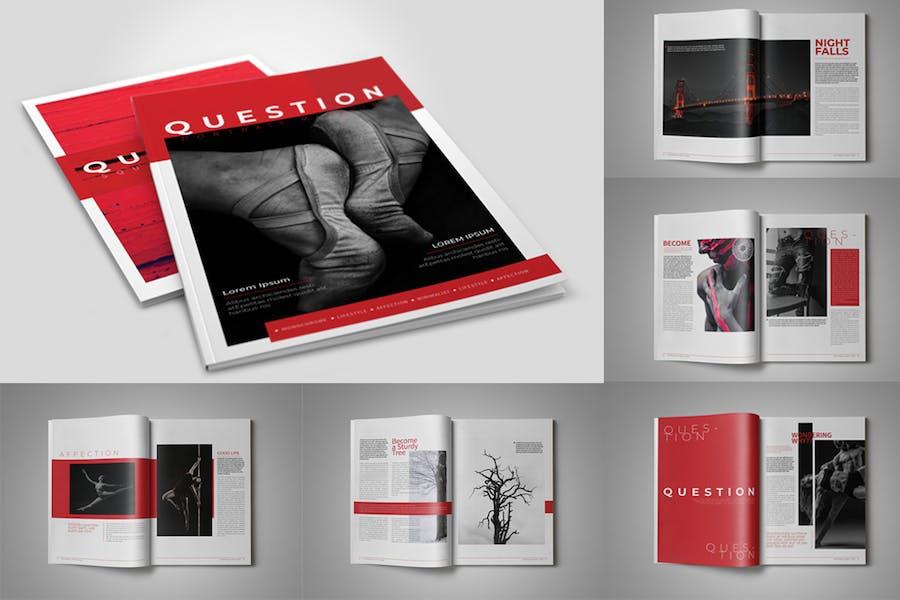 Question Portrait Magazine Template - product preview 1