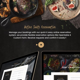 Thumbnail for Elroyale - Elegant Restaurant & Cafe PSD Template