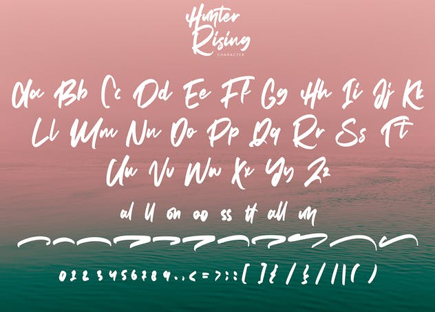 Hunter Rising - Brush Font - product preview 7
