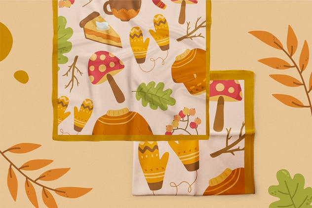 Falling Season Vector Clipart Pack - product preview 0