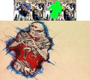 Thumbnail for Strokes Photoshop Action