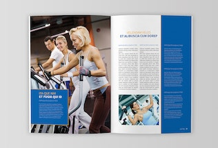 Thumbnail for Health Indesign Magazine Template