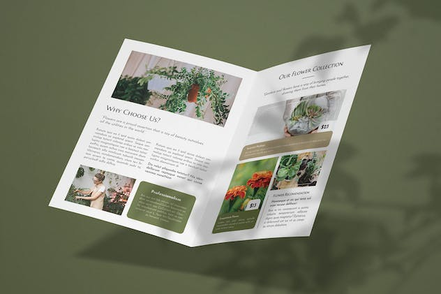 Flower Pot - Bifold Brochure - product preview 2
