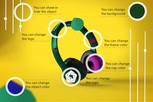 Thumbnail for Abstract Headphones Mockup
