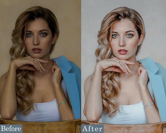 Clean Portrait  Photoshop Actions