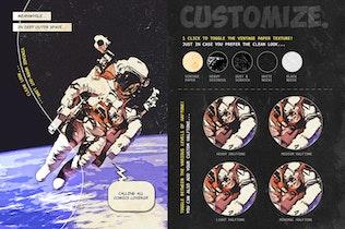 Ретро комикс книга Photoshop Action Kit