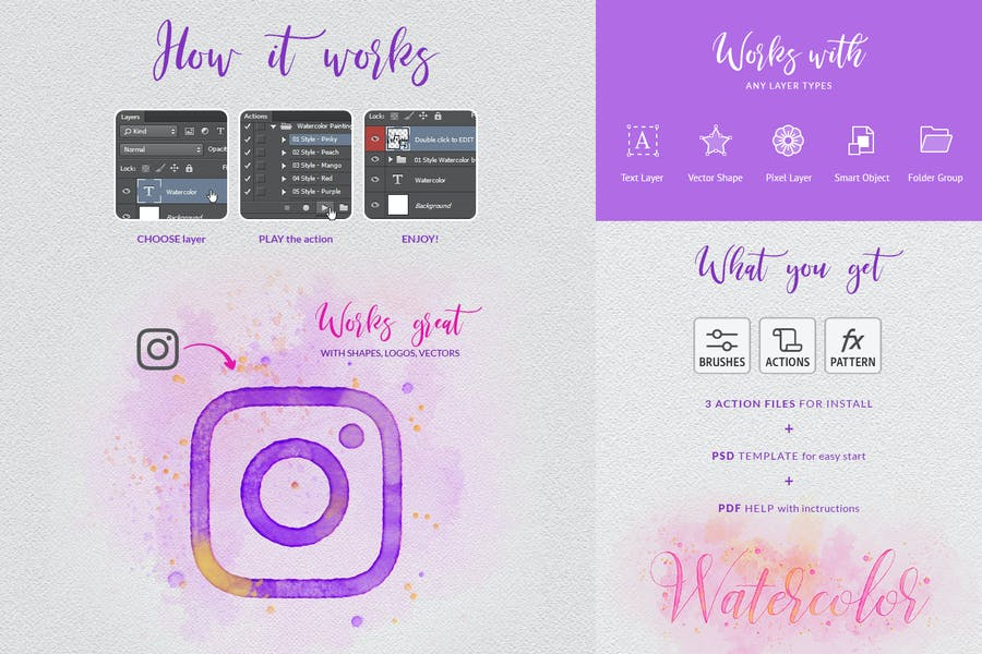 Watercolor Painting - Photoshop Action - product preview 1