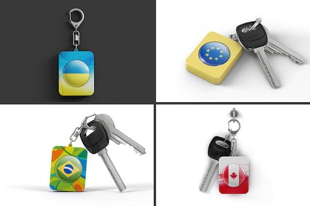 Branded Plastic Keychain Mockup