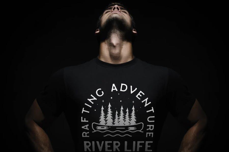 Rafting Adventure Logos, Camping Badges, TShirt  - product preview 1