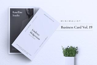 Thumbnail for Minimalist Business Card Vol. 19