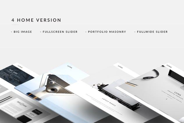LUMA - Creative Muse Template - product preview 2