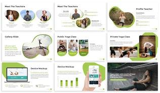 Thumbnail for Namaste - Yoga Google Slides Template