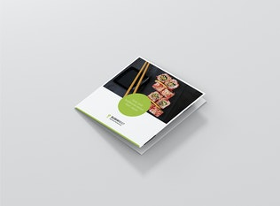 Thumbnail for Brochure – Sushi Restaurant Tri-Fold Square