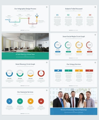Thumbnail for Digital Utopia PowerPoint Template