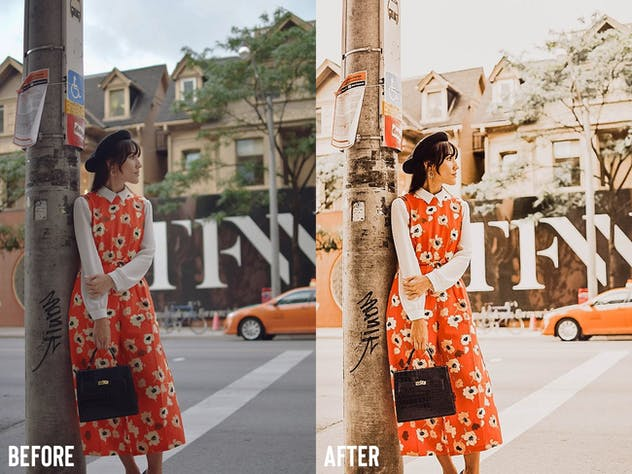 Orange Instagram Blogger Presets