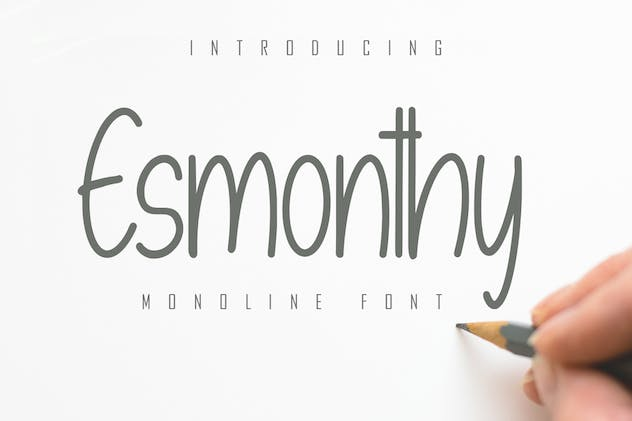 Esmonthy - Monoline Font - product preview 1