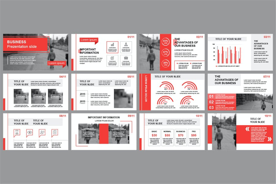 Business Powerpoint Slide Templates - product preview 2