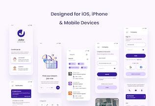 Thumbnail for Jobie - Job Portal iOS App Design UI Template