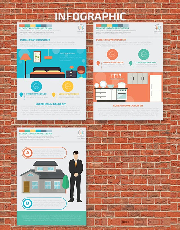 Real estate 2 infographic Design - product preview 1