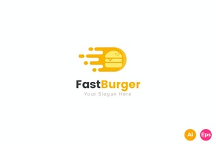 Thumbnail for Fast Delivery Burger food Logo Template