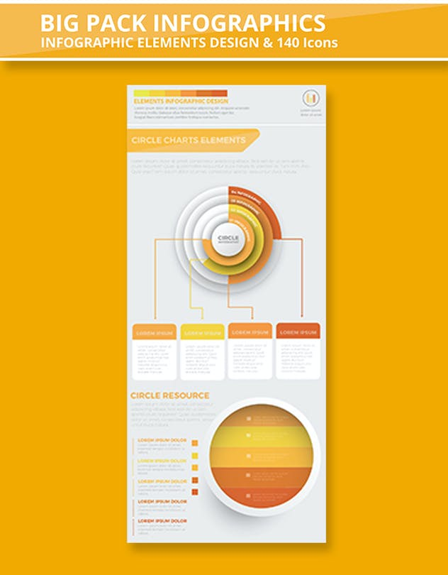 Yellow Infographics - product preview 1