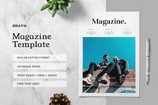 Thumbnail for BRAYN - Lifestyle Magazine Template