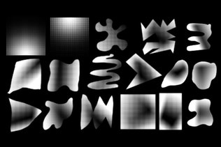 Thumbnail for 30 Halftone Shapes Photoshop Stamp Brushes