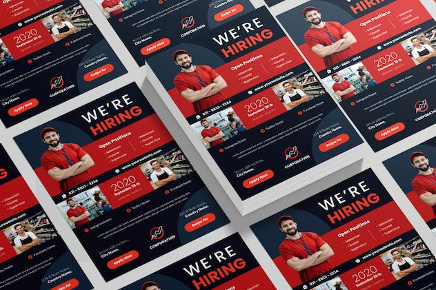 Sales Job Hiring Flyer Advertisement - product preview 2