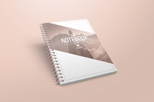 Thumbnail for A5 Spiral Notebook Mockups