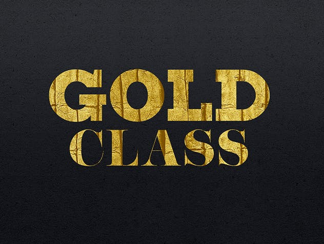 Gold Text Effects 2 - product preview 9