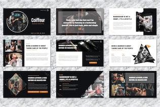 Coiffeur - Barbershop Googleslide Templates