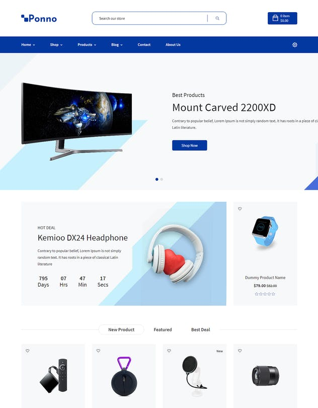 Ponno - Electronics eCommerce Shopify Theme + RTL