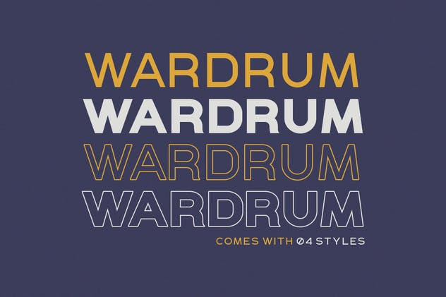 WARDRUM - Expanded Sans - product preview 1