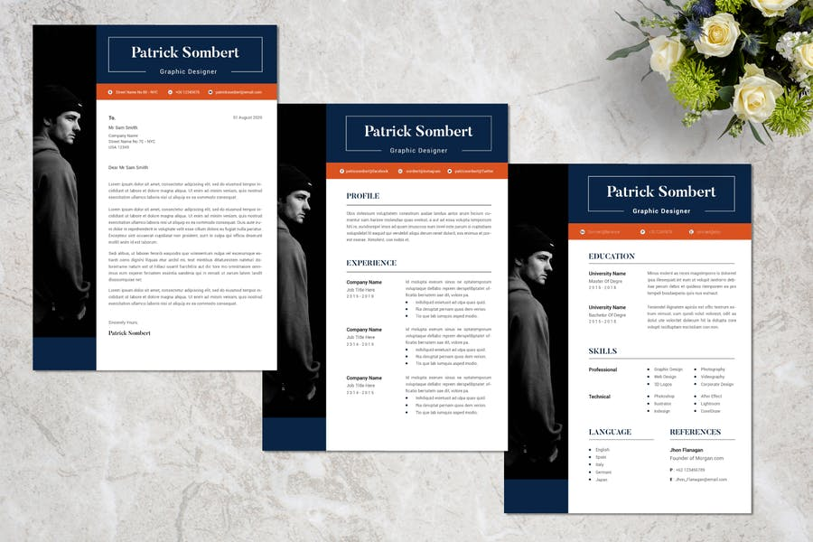 Graphic Designer CV Resume Template Vol. 56 - product preview 2