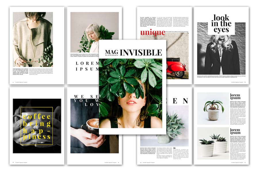 Invisible Magazine Template - product preview 1