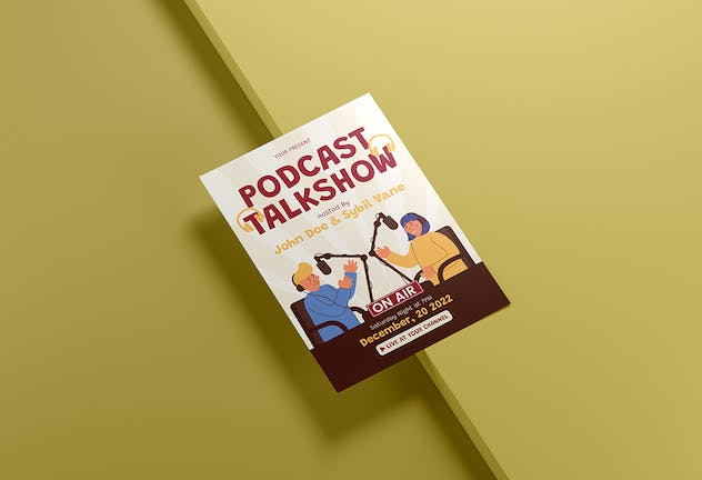 Podcast Talkshow - Flyer Media Kit - product preview 2