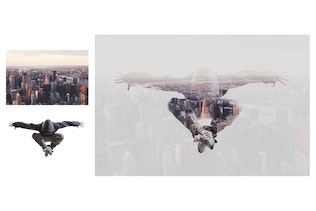 Thumbnail for Double Exposure Photoshop Action