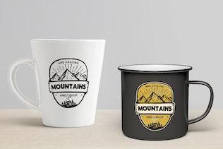 Thumbnail for Mountains Calling Badge / Vintage Travel Logo