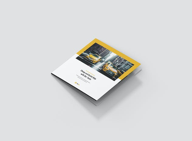 Taxi Cab – Brochures Bundle Print Templates 5 in 1 - product preview 11
