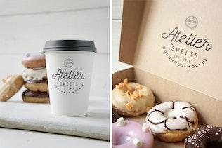 Thumbnail for Coffee Doughnut Mockup